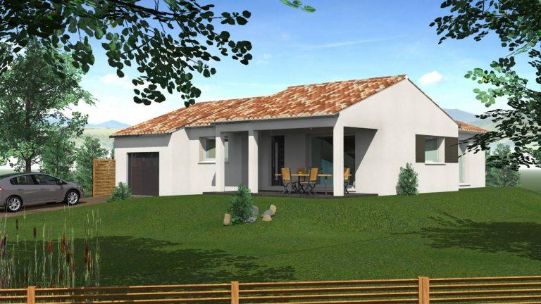 A Savasse (26740), Tradibati a construit pour l'un de ses clients, cette belle villa de plain pied avec 3 chambres.